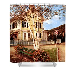 Architecture - Woodstock Vt - Where I Live Shower Curtain by Mike Savad