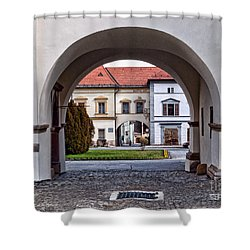 Archways Shower Curtain by Les Palenik