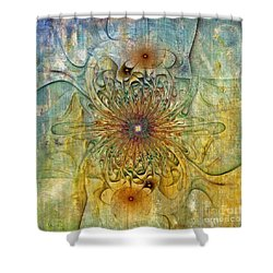 Are There Faces Shower Curtain by Deborah Benoit