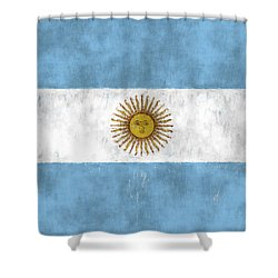 Argentina Flag Shower Curtain by World Art Prints And Designs
