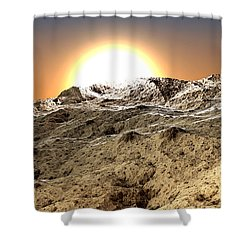 Arid Shower Curtain by Kevin Trow
