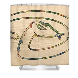 Arizona Diamondbacks Logo Vintage Shower Curtain by Florian Rodarte