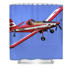 Arkansas Razorbacks Air Tractor Shower Curtain by Jason Politte