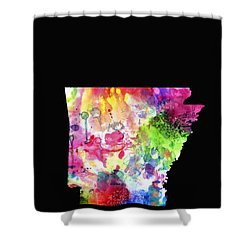 Arkansas State Shower Curtain by Daniel Hagerman