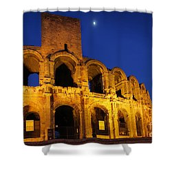 Arles Roman Arena Shower Curtain by Inge Johnsson