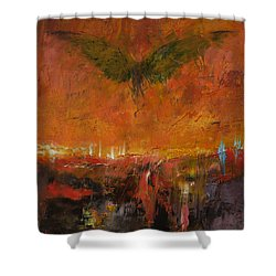 Armageddon Shower Curtain by Michael Creese