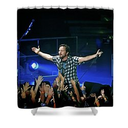 Arms Wide Open Shower Curtain by David Powell