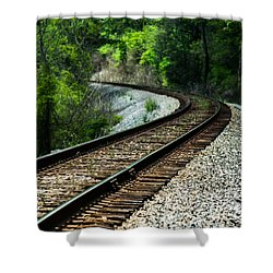 Around The Bend Shower Curtain by Parker Cunningham