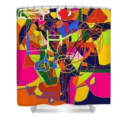 Art And Writing 2 Shower Curtain by David Baruch Wolk