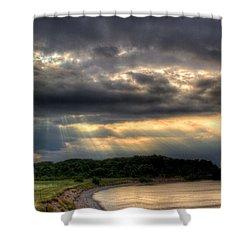 Art For Crohn's Lake Ontario Sun Beams Shower Curtain by Tim Buisman