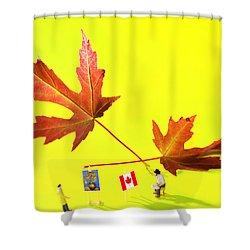 Artist De Imagination Little People Big Worlds Shower Curtain by Paul Ge