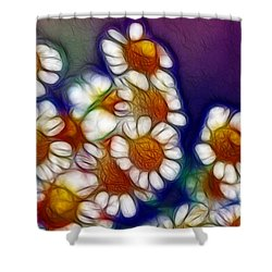 Artistic Feverfew Shower Curtain by Kaye Menner