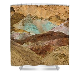 Artist's Paint Palette Abstract Shower Curtain by Heidi Smith