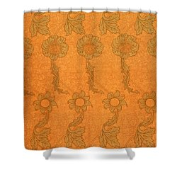 Arts And Crafts Design Shower Curtain by William Morris