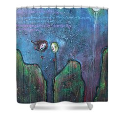 As You Wish Shower Curtain by Laurie Maves ART