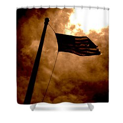 Ascend From Darkness Shower Curtain by Paulo Guimaraes