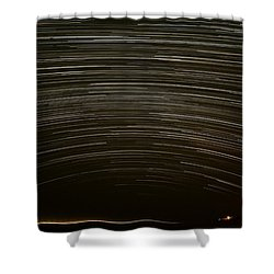 Assateague Star Trails Shower Curtain by Benjamin Reed