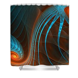 Astonished-fractal Art Shower Curtain by Lourry Legarde