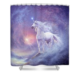 Astral Unicorn Shower Curtain by Steve Read