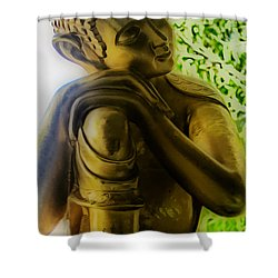 At Peace Shower Curtain by Cheryl Young