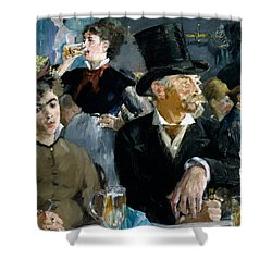 At The Cafe Concert Shower Curtain by Edouard Manet