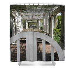 At The Garden Gate Shower Curtain by Melissa McCrann