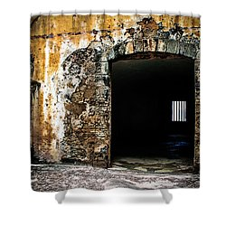 At The Old Fort Shower Curtain by Perry Webster