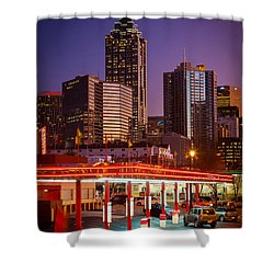 Atlanta Drive-in Shower Curtain by Inge Johnsson
