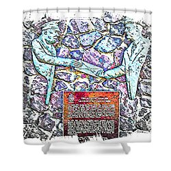 Atlantic Charter Monument Shower Curtain by Barbara Griffin