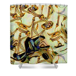 Atomsmasher Shower Curtain by RC DeWinter