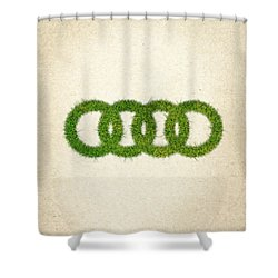 Audi Grass Logo Shower Curtain by Aged Pixel