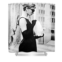 Audrey At Tiffanys Shower Curtain by Nomad Art