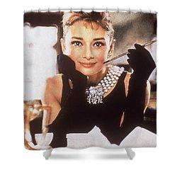 Audrey Hepburn Shower Curtain by Georgia Fowler