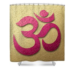 Aum Or Om Symbol Shower Curtain by Cristina-Velina Ion