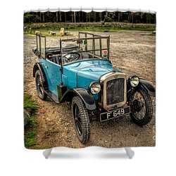 Austin 7 V2 Shower Curtain by Adrian Evans
