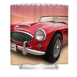 Austin Healey Shower Curtain by Douglas Pittman