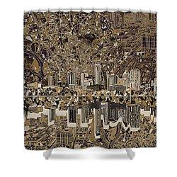 Austin Texas Skyline 5 Shower Curtain by Bekim Art