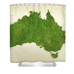 Australia Grass Map Shower Curtain by Aged Pixel