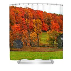Autumn Abandoned Shower Curtain by Terri Gostola