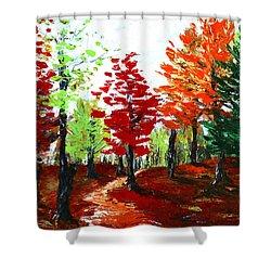 Autumn Shower Curtain by Anastasiya Malakhova
