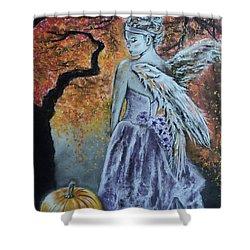 Autumn Angel Shower Curtain by Carla Carson