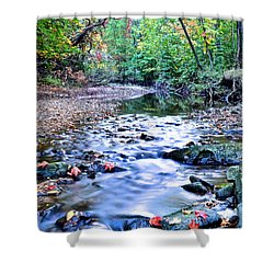 Autumn Arrives Shower Curtain by Frozen in Time Fine Art Photography