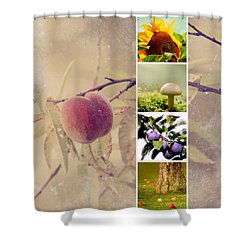 Autumn Collage Shower Curtain by Heike Hultsch
