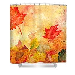 Autumn Dance Shower Curtain by Irina Sztukowski