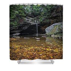 Autumn Falls Shower Curtain by James Dean