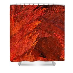 Autumn Fire Abstract Pano 2 Shower Curtain by Andee Design