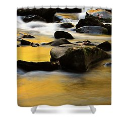 Autumn In The Water Shower Curtain by Dan Sproul