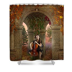 Autumn Melody Shower Curtain by Bedros Awak