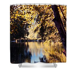 Autumn On The Applegate Shower Curtain by Melanie Lankford Photography