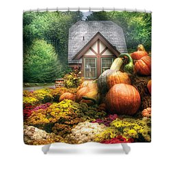 Autumn - Pumpkin - This Years Harvest Was Awesome  Shower Curtain by Mike Savad